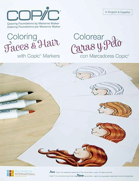 Copic Coloring Foundations - Coloring Faces & Hair with Copic Markers