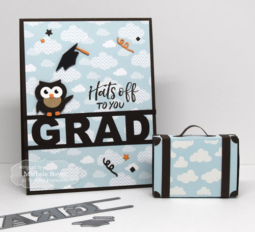 Taylored Expressions Little Bits Owl, Simply Said Grad & Matchbox Accessories-Suitcase