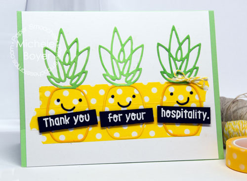 Paper Smooches pineapple hospitality card