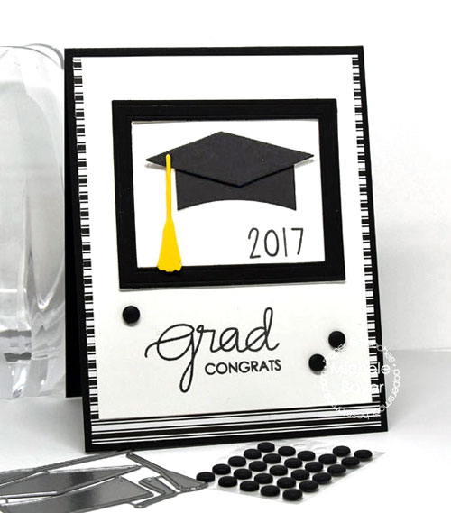 Paper Smooches Grad Cap die set, New Beginnings