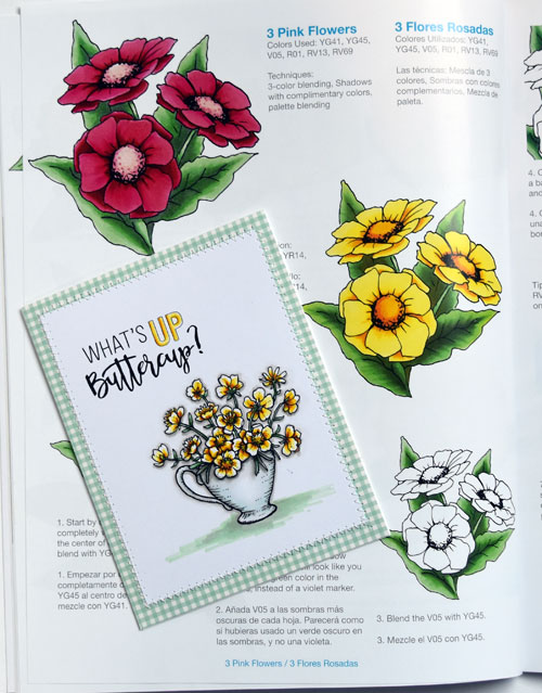Inside page of Coloring Foundations – Coloring Flowers with Copic Markers