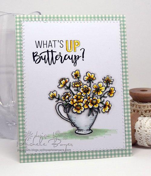 Power Poppy Cuppa Buttercups digital stamp