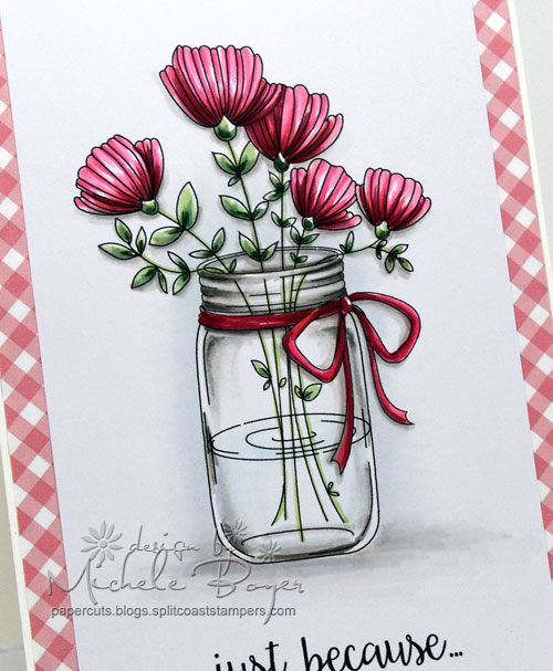Mason Jar of Flowers - Stamping Bella