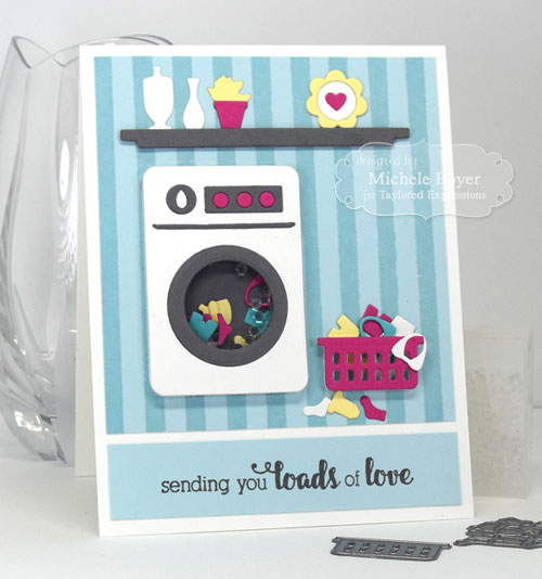 Spin Cycle Shaker Card, Taylored Expressions