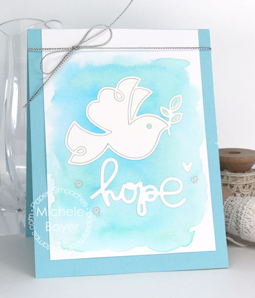 Paper Smooches Dove and Religious Words 2 dies