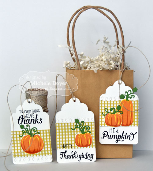 Taylored Expressions - Simply Stamped Pumpkin Tags