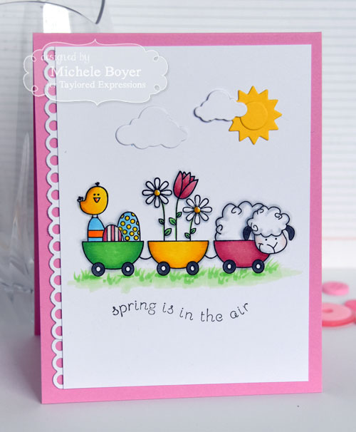 Taylored Expressions, Hello Spring Stamp Set and Spring is in the Air dies