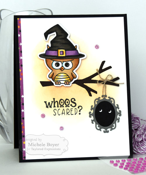 Taylored Expressions Peek-a-Boo Halloween/Little Bits Ornate Frame