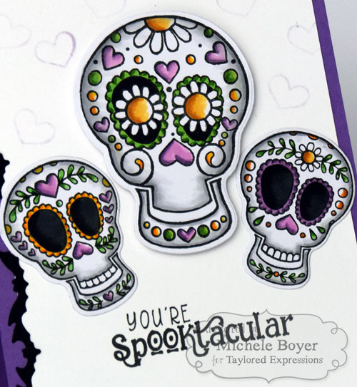 Taylored Expressions Sugar Skulls/Simply Said Halloween