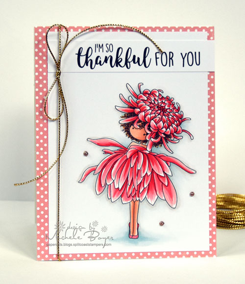 Stamping Bella Garden Girl Chrysanthemum