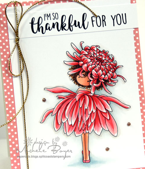 Stamping Bella Garden Girl Chrysanthemum (close-up)