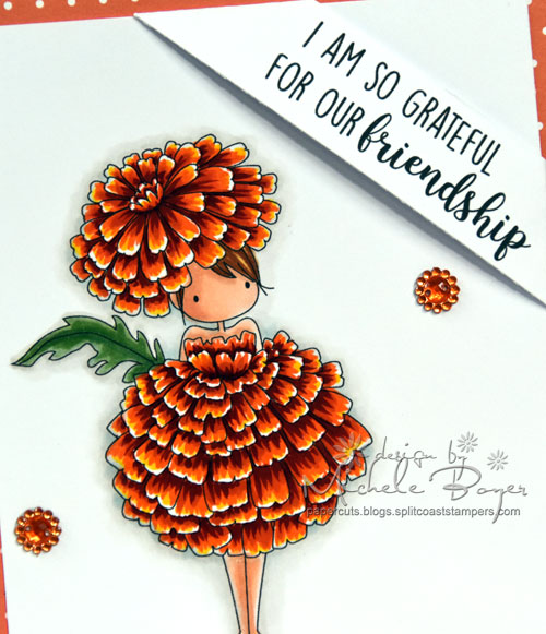Stamping Bella Garden Girl Marigold (close-up)