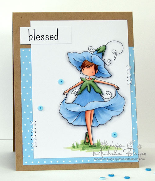Stamping Bella Garden Girl Morning Glory