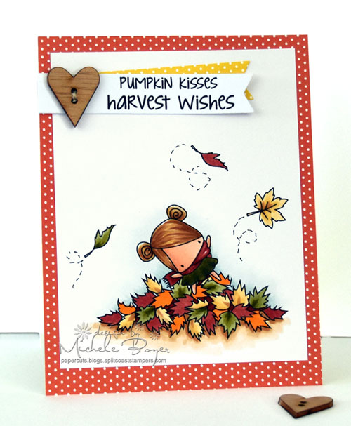 Stamping Bella Littles Playing in the Leaves
