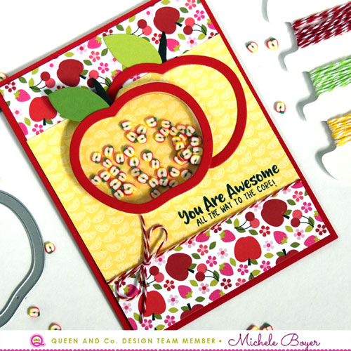 Fruit Basket Shaker Kit - Apples (close-up)