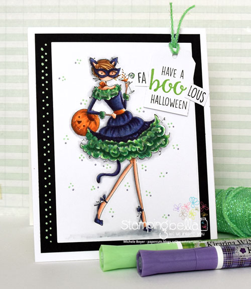 Stamping Bella Uptown Girl Kitty Loves Halloween