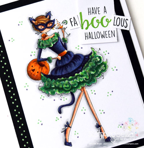 Stamping Bella Uptown Girl Kitty Loves Halloween (close-up)