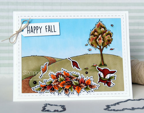 Stamping Bella Fall Backdrop, Little Bits Nature