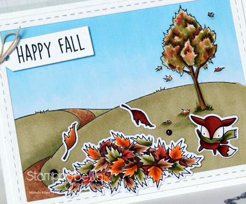 Stamping Bella Fall Backdrop, Little Bits Nature (close-up)