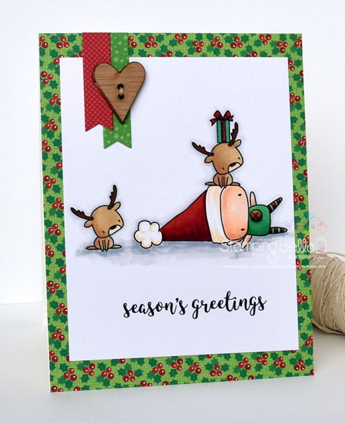Stamping Bella Elf with a Reindeer on Top