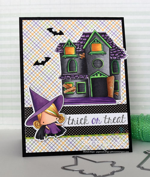Stamping Bella Little Bits Witches and Haunted House