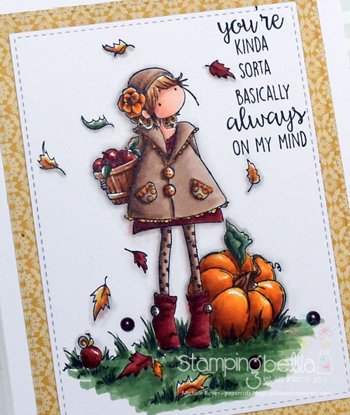 Stamping Bella Tiny Townie Faye Loves Fall (close-up)