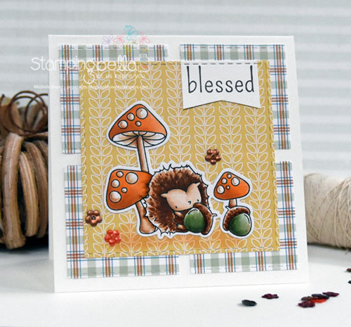 Stamping Bella The Littles Hedgie & His Acorns
