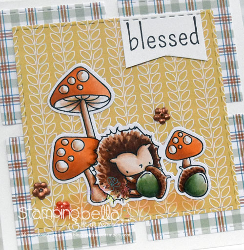 Stamping Bella The Littles Hedgie & His Acorns (close-up)