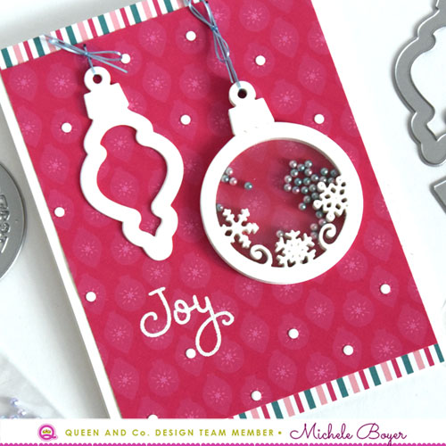 Queen & Company Merry & Bright Ornament Shaker Kit (close-up)