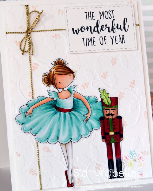 Stamping Bella TIny Townie Natalie & the Nutcracker (close-up)