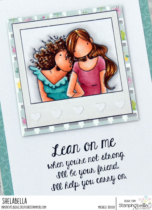 Stamping Bella Snapshots Lean on Me (close-up)