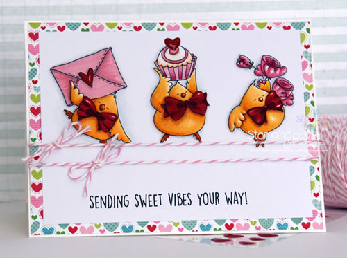 Stamping Bella Valentine Chicks