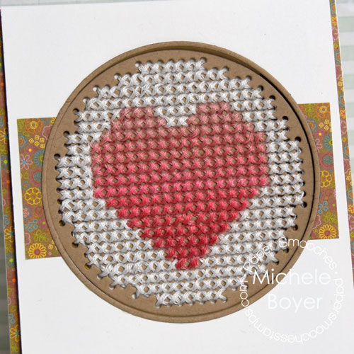 Paper Smooches Stitched Circle die (close-up)