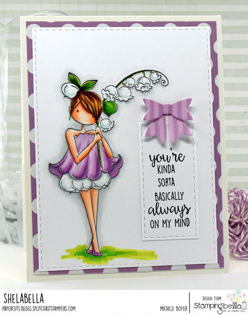 Stamping Bella Tiny Townie Garden Girl Lily of the Valley