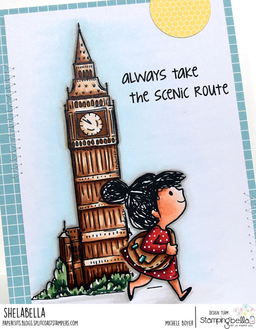 Stamping Bella A Tale of Two Rosies and Big Ben (close-up)