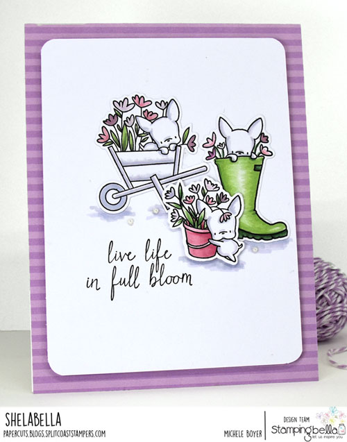 Stamping Bella Mini Frenchie and Garden Girl Sentiments