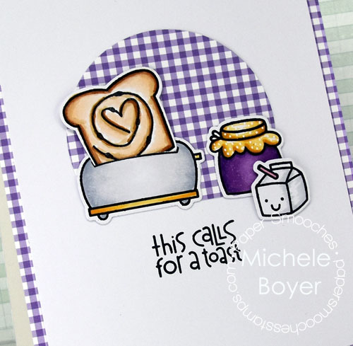 Paper Smooches Wake up stamp set Icons dies (close-up)