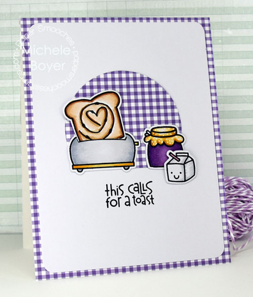 Paper Smooches Wake up stamp set Icons dies
