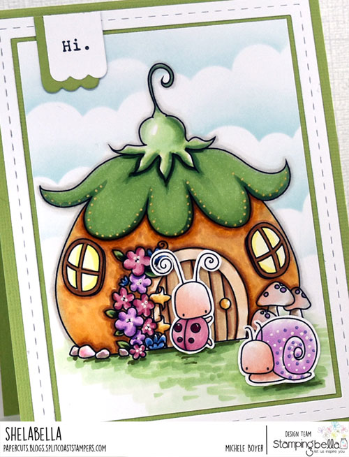 Stamping Bella Little Bits Fairy House and Little Bits Critters (close-up)