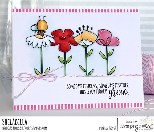 Stamping Bella Little Bits Florals and Little Bits Critter