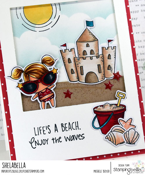 Stamping Bella Littles Sandcastle Set (close-up)