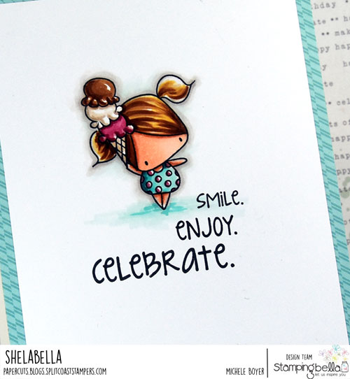 Stamping Bella The Littles Ice Cream and Lemonade (close-up)