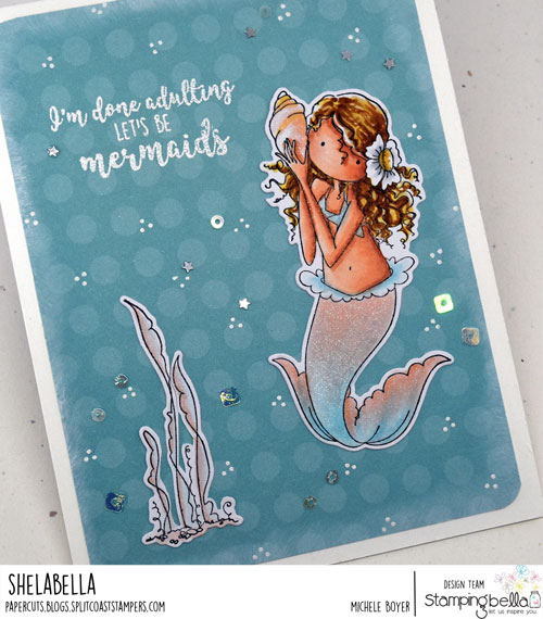 Stamping Bella Tiny Townie Mermaid (close-up)