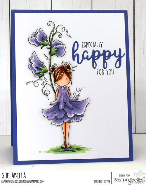 Stamping Bella Tiny Townie Garden Girl Sweet Pea