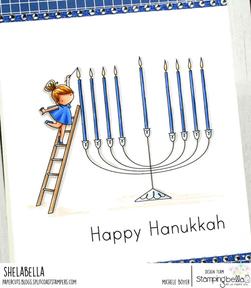 Stamping Bella Teeny Tiny Townie Chanukah (close-up)