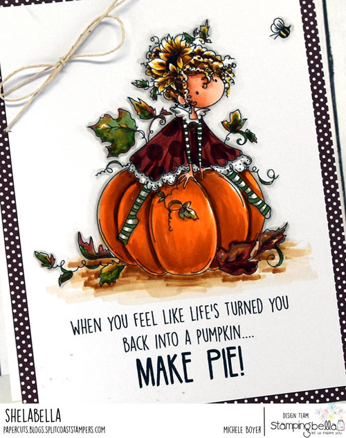 Stamping Bella Patricia Loves Pumpkins (close-up)