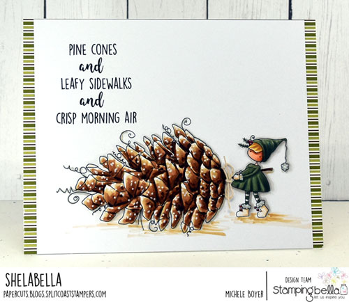 Stamping Bella Teeny Tiny Townie with a Pinecone