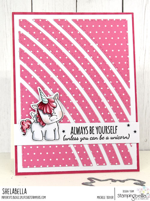 Stamping Bella Unicorn Sentiments