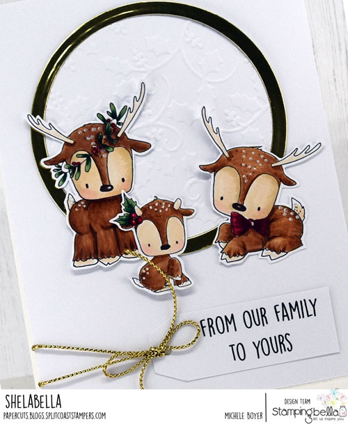 Stamping Bella Reindeer Family (close-up)
