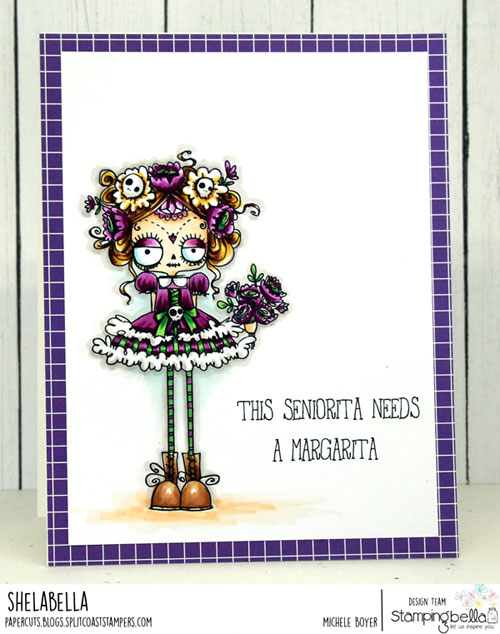 Stamping Bella Oddball Day of the Dead